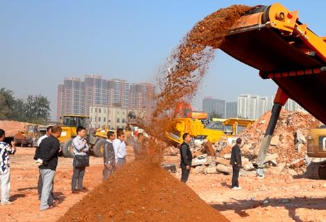 时产100吨建筑垃圾生产线